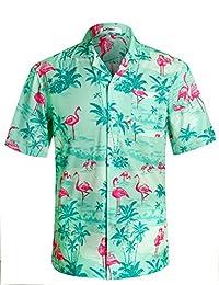 APTRO Men's Hawaiian Shirt Short Sleeve Aloha Shirts