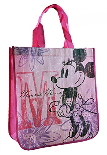 Disney Vintage Minnie Mouse Reusable Tote Bag (13 x 14 x 5 Inches)]()