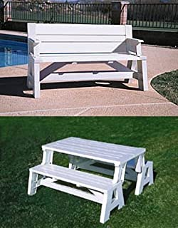 Amazon premiere products 5rcat resin convert a bench outdoor convert a bench white assembled 31 h x 60 watchthetrailerfo