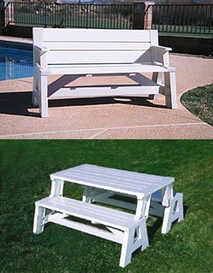"""Convert-A-Bench (white) (assembled 31"""" H x 60"""" L)"""