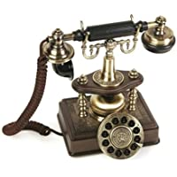 Modern Cool Decorate 1890 Classic Old Model Timey School Antique Vintage Novelty Funky Looking Style Retro Touch Tone Dial Fashion Nostalgic House Office Landline Desk Phone Reproduction Replica Clone