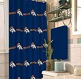 NFL Denver Broncos 18 piece Bath Ensemble: Set includes 1 shower curtain, 12 shower hooks, 2 bath towels, 2 hand towels, and 1 bath mat.