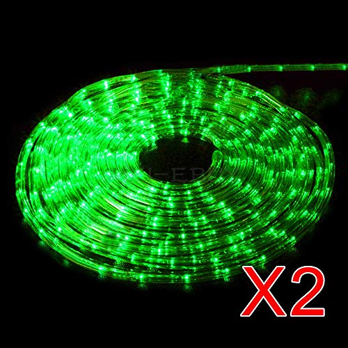 "Home Lamps Light Rope String Outdoor Tree Party Garden Lighting 100"" Green Tkmei from Unknown"