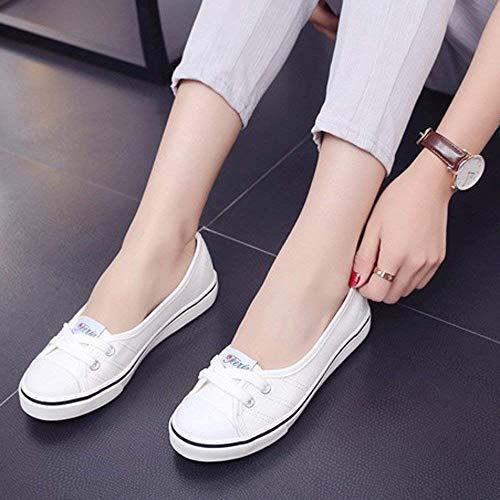 Pisos Blandos De Moda Botas Transpirables Zapatillas Fuxitoggo Casual Mujer Lona Mocasines Calzado Antideslizantes Sandalias Blanco Guisantes Zapatos Aw8SEqORx