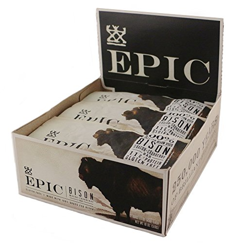 Epic All Natural Meat Bar, 100% Natural, Bison, Bacon & Cranberry, 1.5 ounce, 12 count