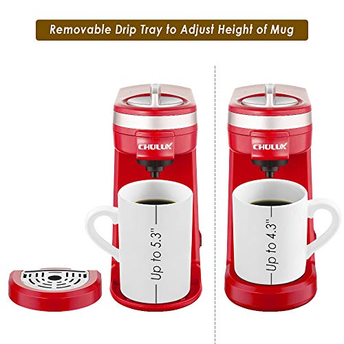 CHULUX Single Cup Coffee Maker Travel Coffee BrewerRed
