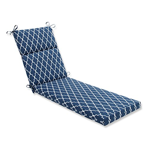Pillow Perfect Outdoor/Indoor Garden Gate Chaise Lounge Cushion, Navy