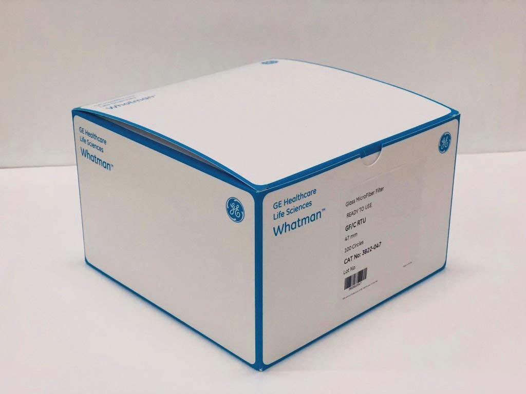 2822-047 - Grade GF/C, Pre-Rinsed and Dried - Whatman Grade GF/C RTU Glass Microfibre Filters Without Binder, GE Healthcare - Pack of 100 (5cm)