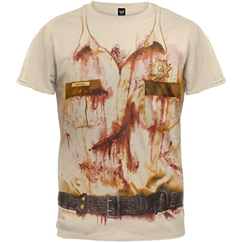 The Walking Dead Sheriff Rick Grimes Costume Officially Licensed Adult T-shirt L
