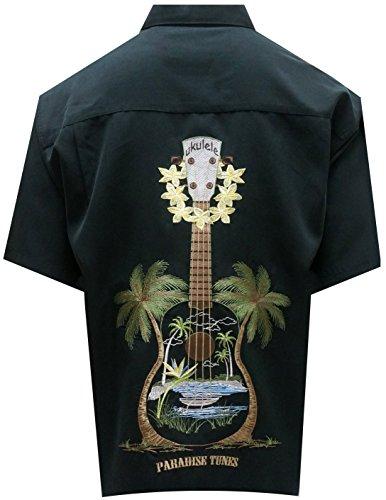 Crazy Shirts Hawaiian - Bamboo Cay Men's Ukulele Island (xl, Black)