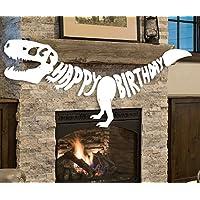 Giant Dinosaur Birthday Banner Dino Party Supplies Garland - T-REX Bones Fossil Jurassic Decoration (6.6ft)