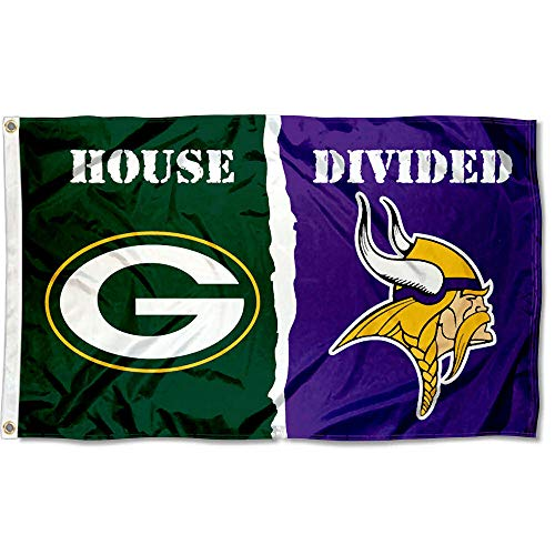 WinCraft Packers and Vikings House Divided Flag