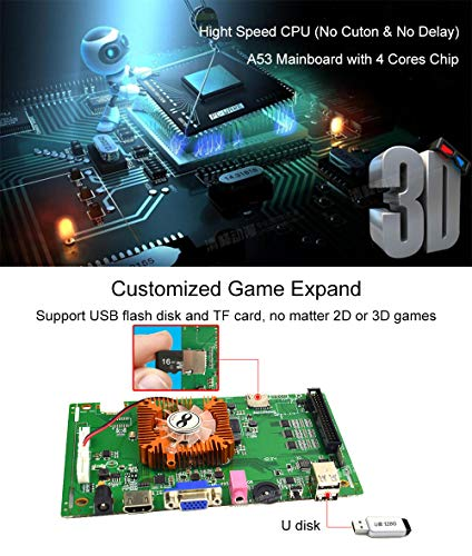 ElementDigital Arcade Game Console 1080P 3D & 2D Games 2260 in 1 Pandora's Box 70 3D Games 2 Players Arcade Machine Arcade Joystick Support Expand 6000+ Games by ElementDigital (Image #1)