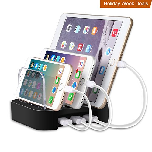 Cheap Charging Stations MixMart 3-Port USB Charging Station Docks for Multiple Devices like iPhone/ iPad/..