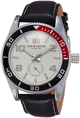 Akribos XXIV Men s AK859SS Round Silver-Tone Watch