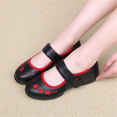 Zapatillas de Baile Zapatos Swing Rojo Jazz No de White Blanco Zapatos Moderno Negro Personalizables Latino de baile Bajo Claqué Tacón x0fnwdqB1