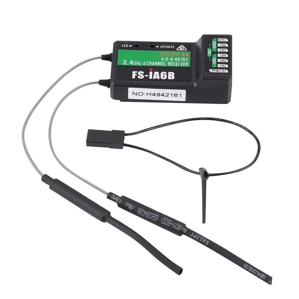 Schwarz, FS-I6S + IA6B + Halterung Dilwe 10CH FS-I6S Sender 2.4G 10CH FS-I6S Sender /& FS-IA6B oder FS-IA10B Empf/änger mit Halter f/ür RC Drone Quadcopter