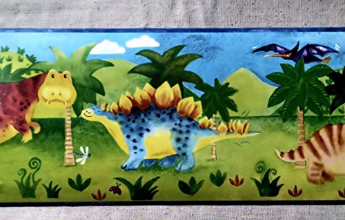 Dinosaur Wallpaper Border - Kids - GU92041B (Dinosaur Wall Border)