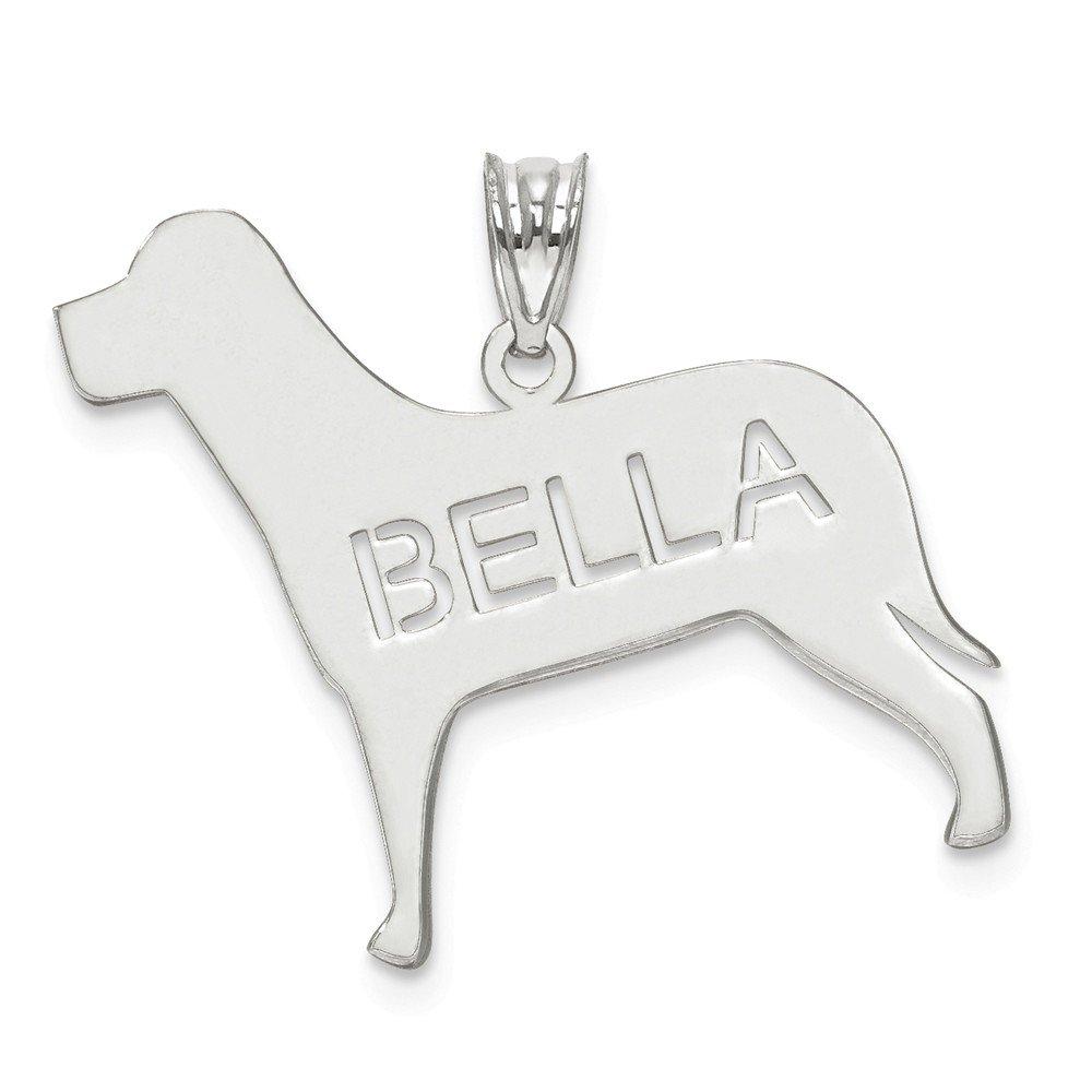 Mia Diamonds 925 Sterling Silver Laser Polished Dog Name Pendant