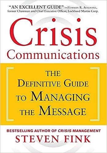 408c22e840b7e Amazon.com: Crisis Communications: The Definitive Guide to Managing ...