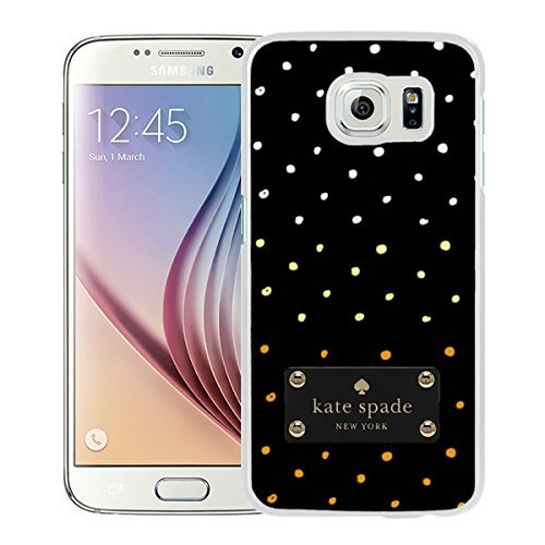 Luxurious And Nice Custom Designed Kate Spade Cover Case For Samsung Galaxy S6 White Phone Case 210