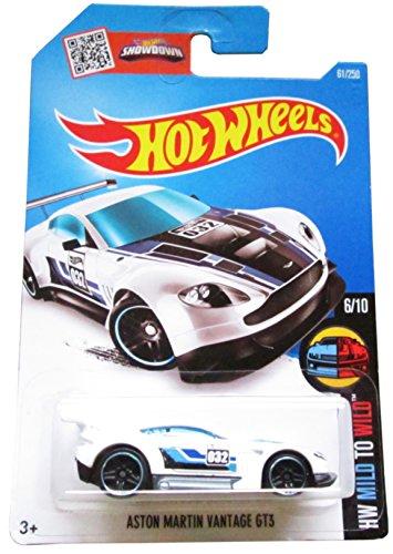 Hot Wheels, 2016 HW Mild to Wild, Aston Martin Vantage GT3 [White] 61/250