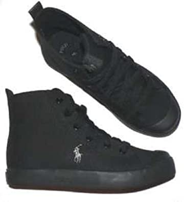 9d7a6d044f Image Unavailable. Image not available for. Color: Polo Ralph Lauren Conrad shoes  youth boys girls black ...