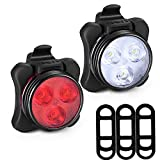 Akale Rechargeable Bike Light Set, Super Bright LED Bicycle Lights Front and Rear