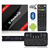 2018 Latest BPSMedia H96 MAX / 4GB-32GB Android 7.1 Bluetooth TV Box Rockchip Hexa Core and Supporting 4K (60Hz) Full HD /H.265 /WiFi 2.4GHz - WITH FREE WIRELESS KEYBOARD