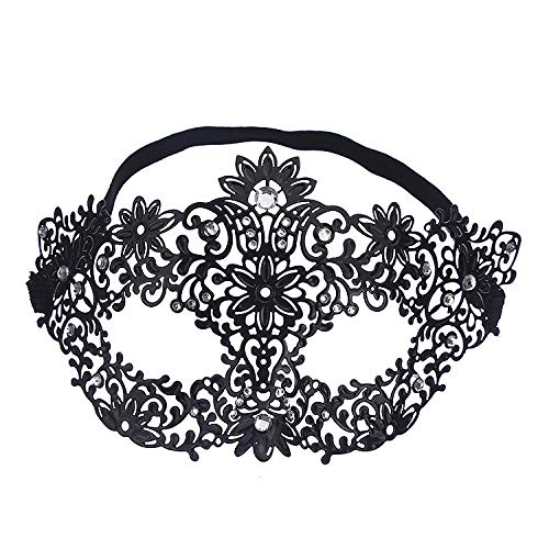 LBAFS Halloween Mask Flower Fairy Fashion Metal Openwork Ball Half Face Eye Mask for Venetian Masquerade Show Party ()