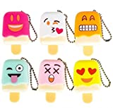 1 Dozen Of Emoji Face Emoticon Ice Pop Lip Gloss