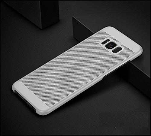 Funda Samsung Galaxy S8 Plus,Alta Calidad Ultra Slim Anti-Rasguño y Resistente Huellas Dactilares Totalmente Protectora Caso de Plástico Duro Case,Cuadrícula Disipación de calor Antideslizante Cover F
