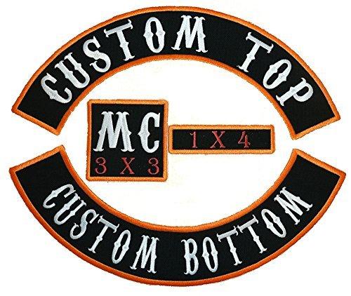Custom Embroidered Biker Vest 4pc Patch Set - 13