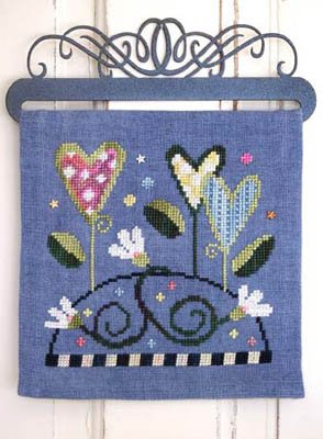 Over The Hill - Grow Love (includes buttons) Cross Stitch Chart