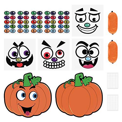 Halloween Posters For Kids (Toyvian Halloween Pumpkin Game Stickers,Pumpkin Poster Face Nose Sticker Halloween Party Stickers Decorations Trick or Treat Party)