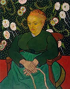 Oil painting 'Vincent van Gogh-La Berceuse,1889' printing on Perfect effect Canvas , 20x25 inch / 51x64 cm ,the best gift for girl friend and boy friend and Home decor and Gifts is this Amazing Art Decorative Canvas Prints