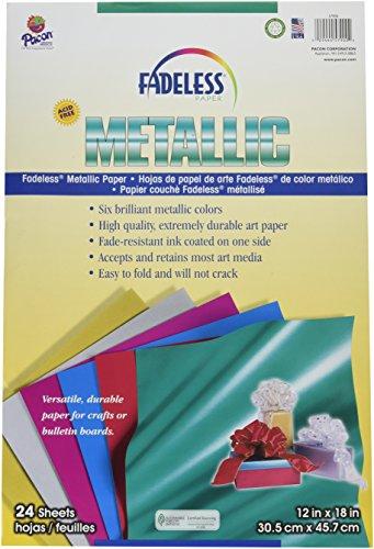 Fadeless Metallic Sheet Assortment - 12 x 18 - Pack of 24 ()