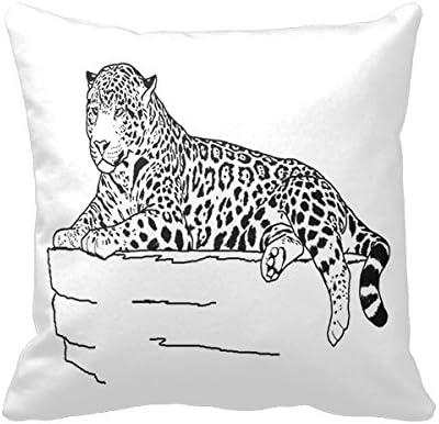 Animales para colorear manta almohada cuadrado algodón funda de ...