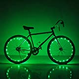 Soondar Super Bright 20-LED Bicycle Bike Rim Lights, Green