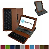 Mama Mouth Rotary Stand PU Leather Case Cover With Removable Micro USB Keyboard for 10.1