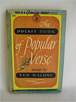 The Pocket Book Of Popular Verse Ted Malone Amazon Com Books