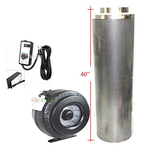 "8"" Carbon Filter & Variable Speed Inline Fan Air Blower O..."
