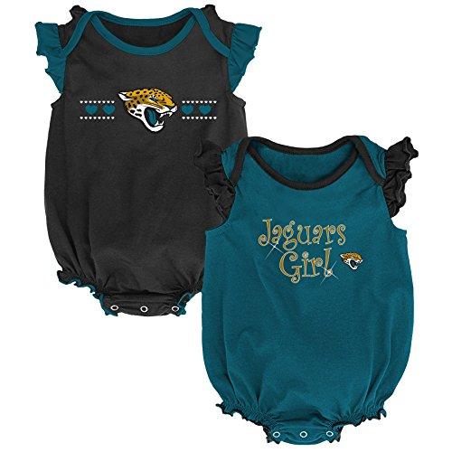 (Outerstuff NFL NFL Jacksonville Jaguars Newborn & Infant Homecoming Bodysuit Combo Pack Black, 3-6 Months )