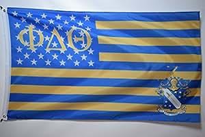 Phi Delta Theta nosotros estilo de la Fraternidad Colegio Oficial de la bandera 3x 5