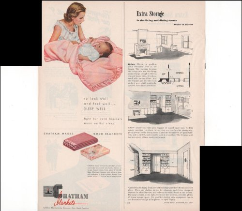 Chatham Makes Good Blankets Home Linens Baby 1947 Vintage Antique Advertisement