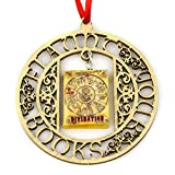 DIVINATION School of Magic Mini Book FRAMED Home Decor Ornament by Book Beads