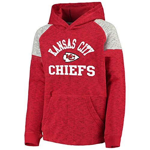 (Outerstuff NFL Youth 8-20 Team Color Linebacker Pullover Sweatshirt Fleece Hoodie (Medium 10/12, Kansas City Chiefs))