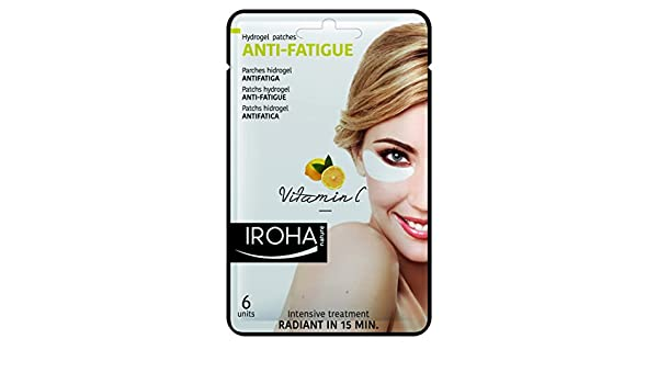 Iroha Nature Antifatiga Parches Hidrogel Ojos Vitamina C 6 Unidades: Amazon.es: Belleza