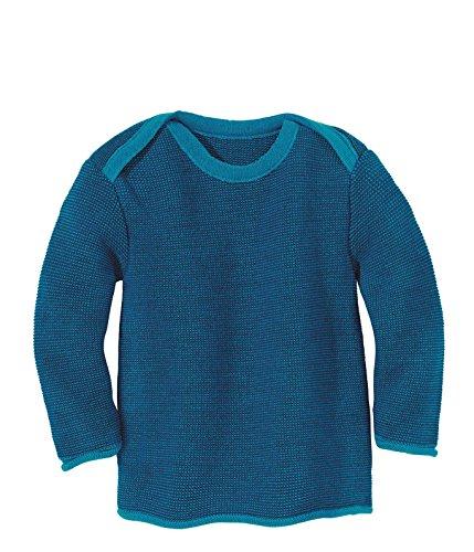 lana in Disana Blu Melange Baby Pullover merino 1gwCO5q
