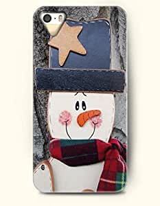 OOFIT iPhone 5 5s Case - Cute Snowman With Blue Hat